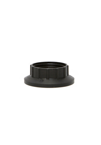 E14 Fitting, Shade Ring, Black Plastic