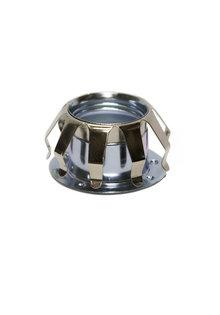 Klemveer - Glasveer - Chroom - voor E14 fitting