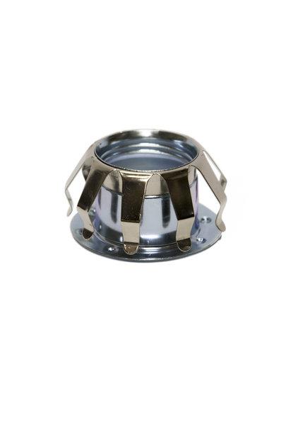 Clamp Spring - Glass Spring - Chrome - for E14 Socket