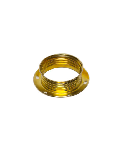 E14 Shade ring, for small lamp fitting with external screw thread, brass