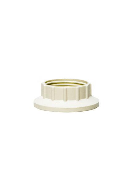 Shade Ring For Lamp Socket, E14 Fitting, White Plastic
