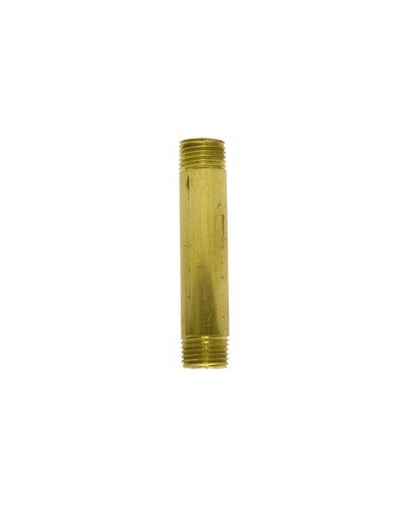 Brass tube (pipe), height: 5.0 cm (2.0  inch) diameter: 1.3 cm (0.5 inch), screw thread x 1
