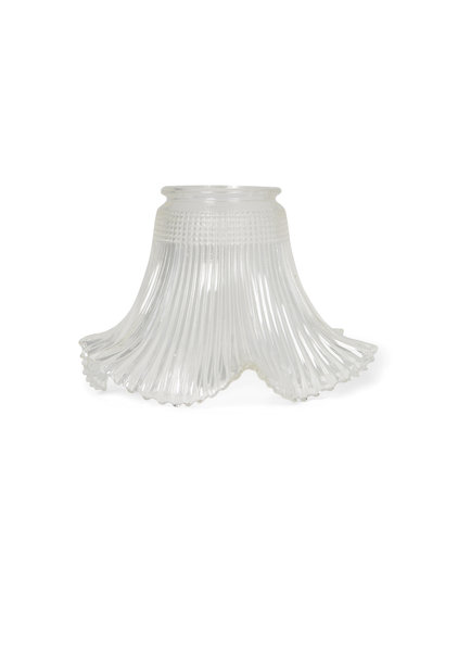Vintage Glass Lampshade, Industrial Model Template