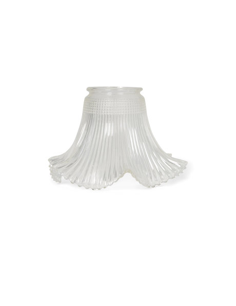 Glass lampshade, 1940s, industrial