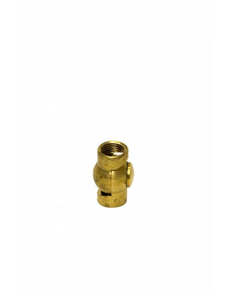 Adjusting joint (swing unit), female-female M10 internal-internal thread, gold coloured