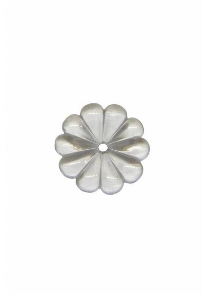 Crystal Glass for Chandelier: Rosette 2.5 cm (1.0 inch) (per 5)