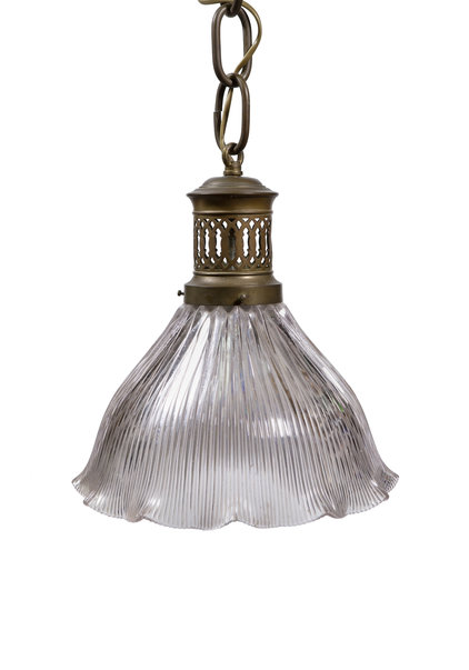 Industrial Hanging Lamp, Old Gas Lamp Fixture