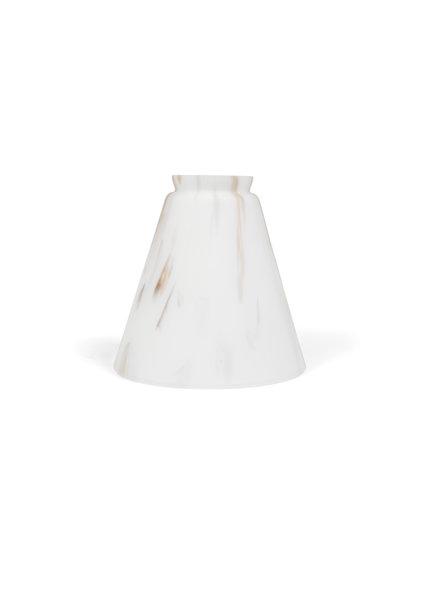 Glazen Lampenkap, Mat wit, Gemarmerd Glas