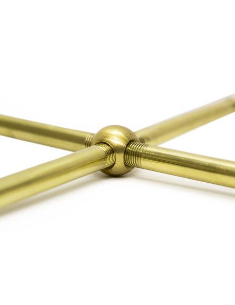Lamp onderdelen, kruis koppelstuk, 1.0 cm (M10), messing