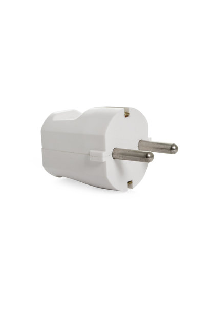 Earthed Plug White