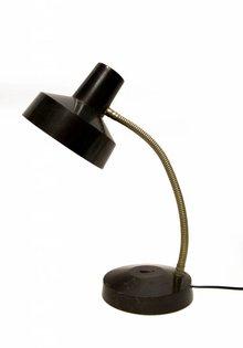 Retro Desk Lamp, Black-Silver (1013.01), 1950s