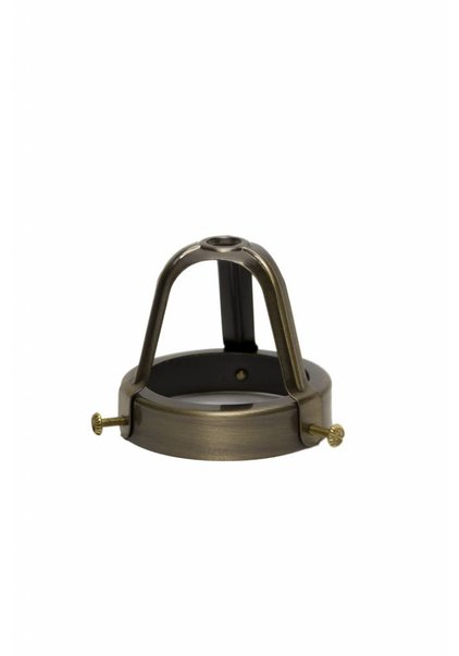 Lamp Shade Holder, Patinated Copper, Open, High Model