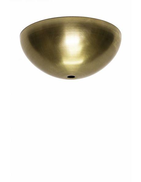 Ceiling plate, brass, shape: hemisphere (half ball)