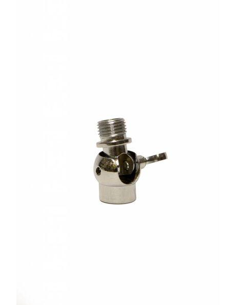 Stelgewricht, zilverkleurig, M10x1, met stel schroef
