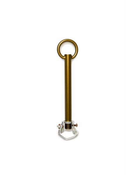 Adjusting tube, made of patinated brass, including a hanging loop M10