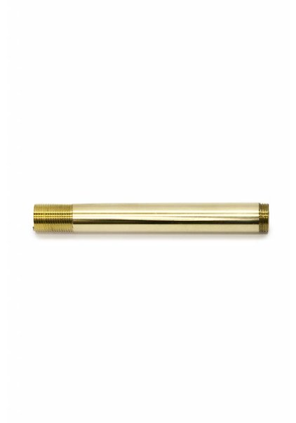 Pipe, 10.0 cm / 3.94 inch, M13, Polished Brass