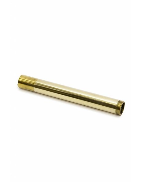 Tube, 10.0 cm, / 3.94 inch, M13, polished brass