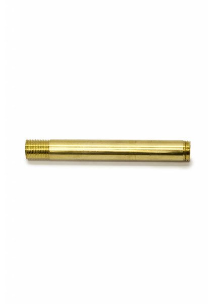 Pipe, 10 cm / 3.9 inch, M13, Brass Unpolished