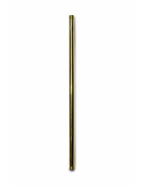 Pipe, 30 cm / 11.8 inch, Polished Brass