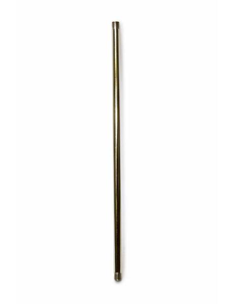 Stang, 30 cm, M10, Nikkel Gepolijst