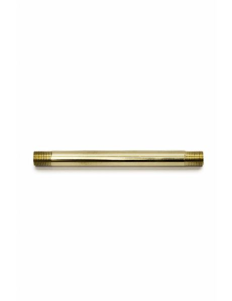 Tube, 10 cm / 3.9 inch, brass, polished