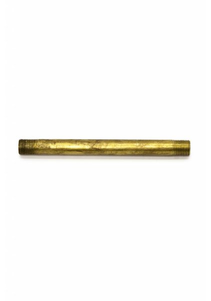 Pipe, 10 cm / 3.9 inch, M10, Unpolished Brass