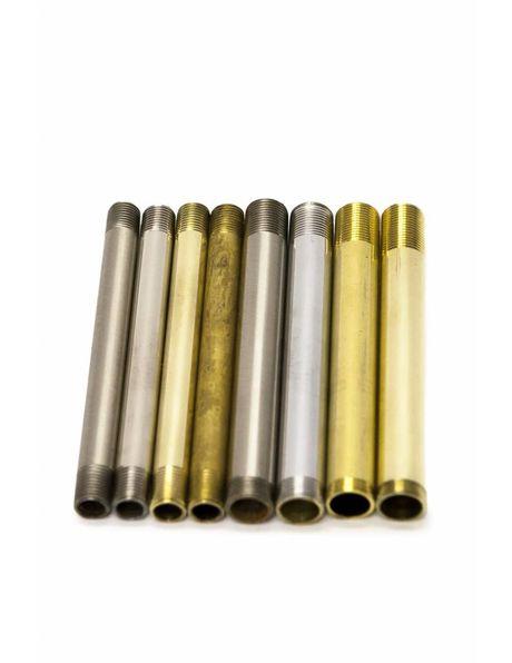 Tube, 10 cm / 3.9 inch, Coarse brass