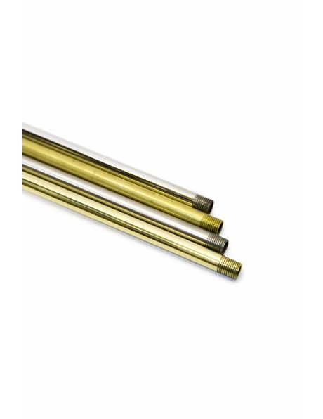 Pipe, 40 cm / 15.8 inch, M10, Polished Nickel