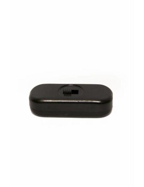 Zwarte snoerschakelaar, rechthoek met afgeronde hoeken.