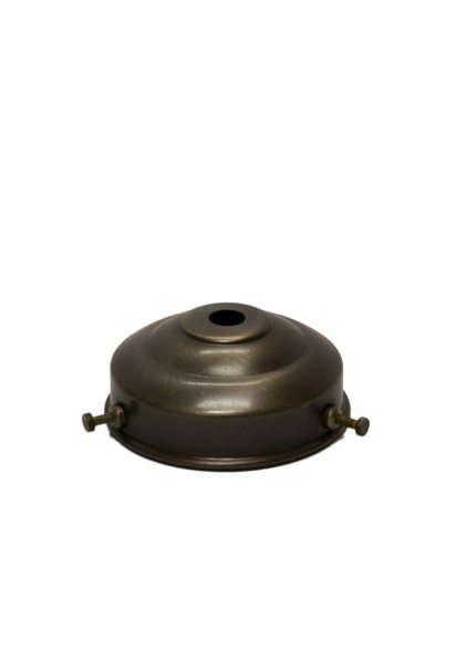 Lamp Shade Holder, 6 cm / 2.4 inch, Patinated Brass