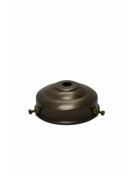 Lampshade holder, patinated brass, 6 cm / 2.4 inch,