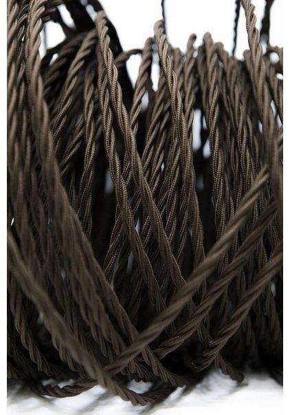 Stoffen Snoer, bruin, gevlochten