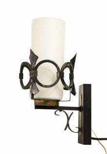 Vintage Wall Lamp, Metal Decorative Edge, 1960s