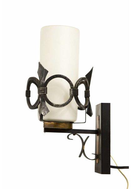 Vintage Wandlamp, Metalen Sierrand, 1960