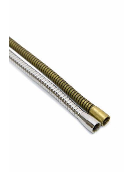 Buigbare buis, zilverkleur (chroom) 30 cm lang, M10