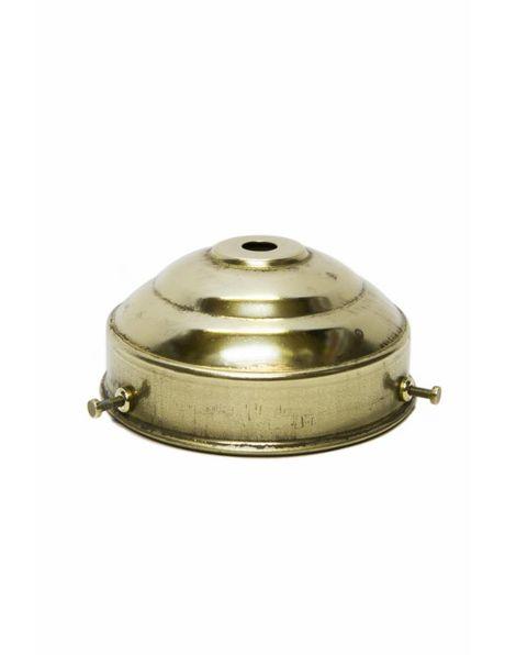Glass shade holder, grip 8 cm / 3.15 in, brass