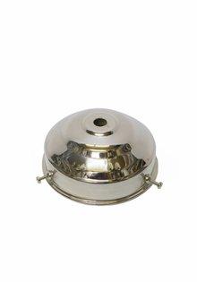 Lampenkaphouder, 8 cm, chroom