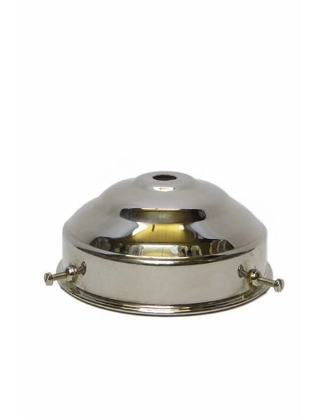Lampenkaphouder, 8 cm greep, chroom.