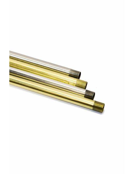 Tube, polished brass, 40 cm / 15.75 inch, M13,