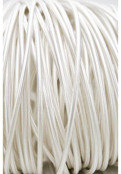 Lamp Wire, with Fabric Cover, White, Round Shape, 3-Core