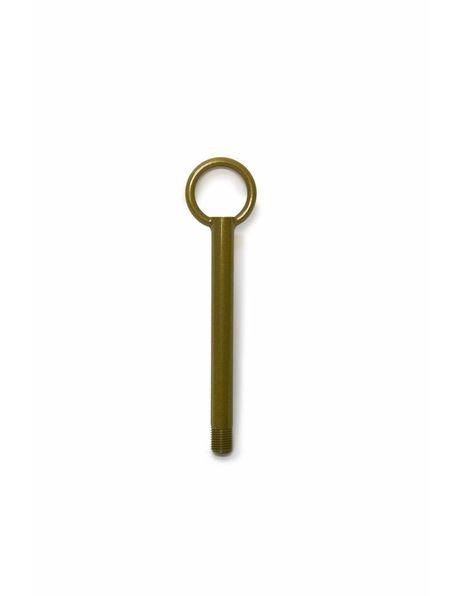 Adjusting tube / rod made of caramel brown coated metal, m10
