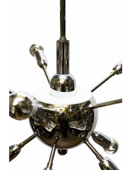 Hanglamp design. chroom kleurige hanglamp: Spoetnik