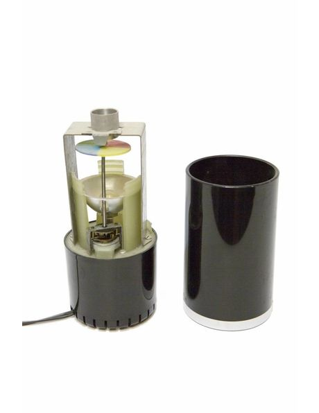 Tafellamp zwart, Verspreid verschillende kleurtjes, ca. 1960