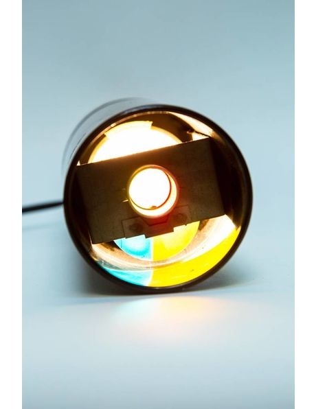 Table Lamp Black, Radiates Different Colours, 1960s