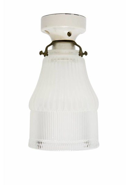 Ceiling Lamp, Open Glass Lampshade