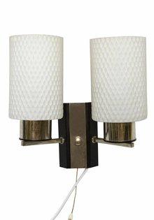 Vintage Wandlampje, Dubbele Bouchie