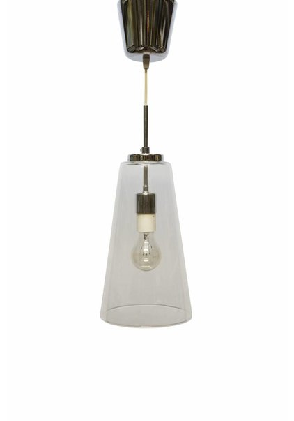 Glass Pendant Lamp, Clear Glass Chalice