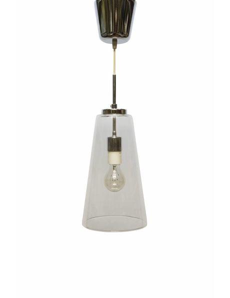 Hanglamp glas, glazen kelk aan snoer, ca. 1940