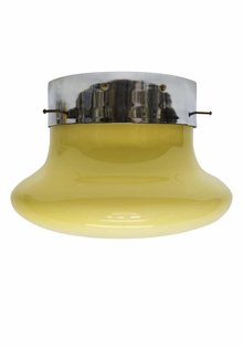 Design Ceiling Lamp, Large Cream Glass Shade