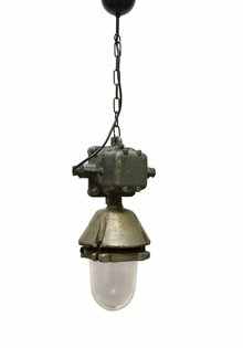 Industrial Pendant Lamp Large Metal Holder